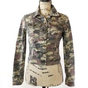 Kut From The Kloth Camo Military Jacket Small